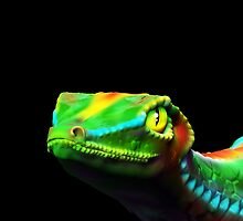 Gecko Lizard Close up 3d digital Art by BluedarkArt
