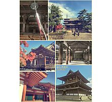 Nara Japan Horyu-ji Temple World Heritage Site Collage Photographic Print