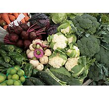 Fresh Vegetables at the Market Photographic Print