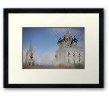 temple reflection Framed Print