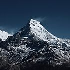 Fish tale Mountain. The himalayas by johnkimages