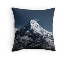 Fish tale Mountain. The himalayas Throw Pillow