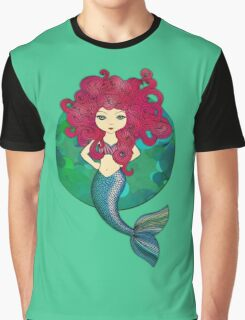 Mermaids have bad hair days, too. Graphic T-Shirt