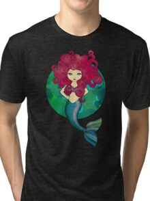 Mermaids have bad hair days, too. Tri-blend T-Shirt