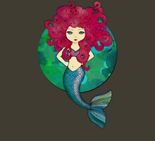 Mermaids have bad hair days, too. Womens Fitted T-Shirt