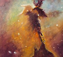 Stellar Spire in the Eagle Nebula  by Allison Ashton
