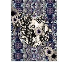Maybe Next Time, Floral skull Photographic Print