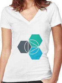 IBM Bluemix Women's Fitted V-Neck T-Shirt