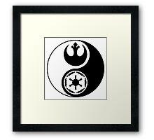 Rebel Alliance v Galactic Empire - Yin Yang 2 Framed Print