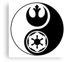 Rebel Alliance v Galactic Empire - Yin Yang 2 Canvas Print