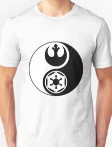 Rebel Alliance v Galactic Empire - Yin Yang 2 T-Shirt
