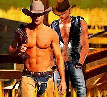 Cowboy Corral by BrianJoseph