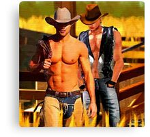 Cowboy Corral Canvas Print