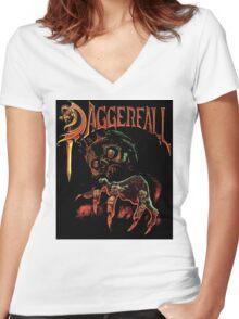 Daggerfall The Elder Scrolls Women's Fitted V-Neck T-Shirt
