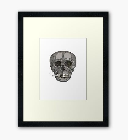 SKULL SMOKE 1 Framed Print