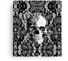 Gothic Lace skull Canvas Print
