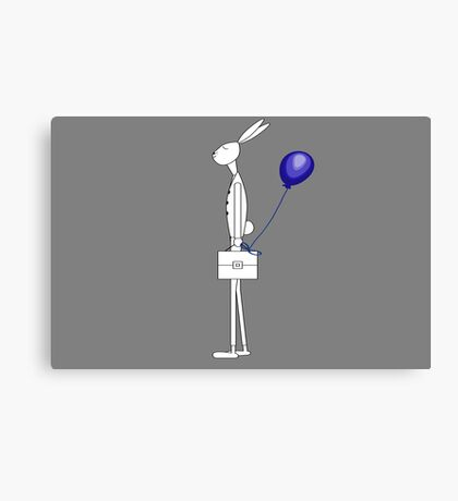 Bunny with balloon Canvas Print