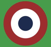 French army roundel / Cocarde de l'armée française One Piece - Short Sleeve