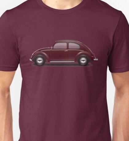 1949 Volkswagen Beetle Sedan - Bordeaux Red Unisex T-Shirt