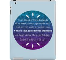 Percy Jackson Prophecy Purple and Blue iPad Case/Skin