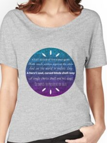 Percy Jackson Prophecy Purple and Blue Women's Relaxed Fit T-Shirt