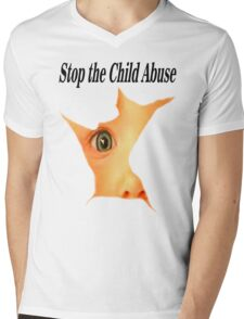 Stop the Abuse Mens V-Neck T-Shirt