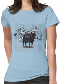 Spanish black bull  Womens Fitted T-Shirt