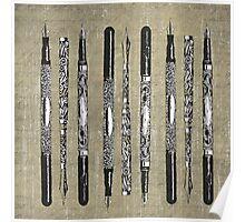 Paris France Antique Pens Poster