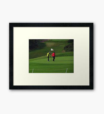 Lady Golfers Framed Print