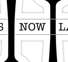 Fork Now Spoon Later Sticker