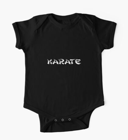 Karate Black Martial Arts T-Shirt Duvet One Piece - Short Sleeve
