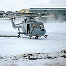 Westland Lynx HAS.2 XZ257/346 landing at RAF Stanley by Colin Smedley