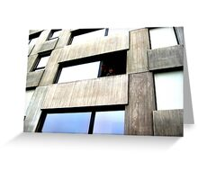Facade Window Greeting Card