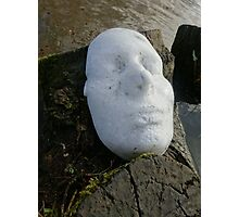 White Ice Face Series (1) 2014 Photographic Print