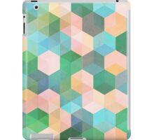 Child's Play - hexagon pattern in mint green, pink, peach & aqua iPad Case/Skin
