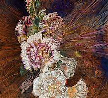 Hollyhock Explosion by Alma Lee