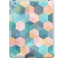 Child's Play 2 - hexagon pattern in soft blue, pink, peach & aqua iPad Case/Skin