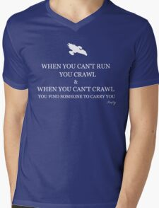 Firefly- When you can't crawl Mens V-Neck T-Shirt