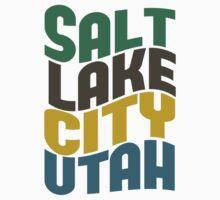 Salt Lake City Utah Retro Wave Kids Tee