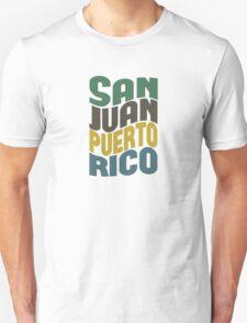 San Juan Puerto Rico Retro Wave T-Shirt