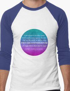 Percy Jackson Prophecy - Blue Background Men's Baseball ¾ T-Shirt