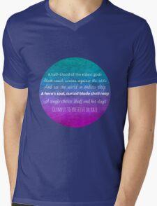 Percy Jackson Prophecy - Blue Background Mens V-Neck T-Shirt