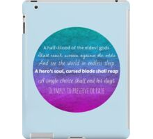 Percy Jackson Prophecy - Blue Background iPad Case/Skin