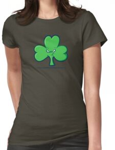 Angry Clover Womens Fitted T-Shirt