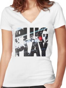 control panel  Women's Fitted V-Neck T-Shirt