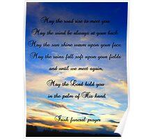 Irish Funeral Prayer Poster