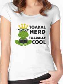 Toadal Nerd Toadally Cool Women's Fitted Scoop T-Shirt
