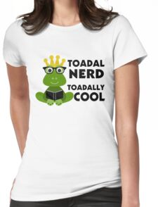 Toadal Nerd Toadally Cool Womens Fitted T-Shirt