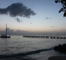sunset in barbados by skiptonred
