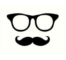 Nerdy Mustache Man Art Print